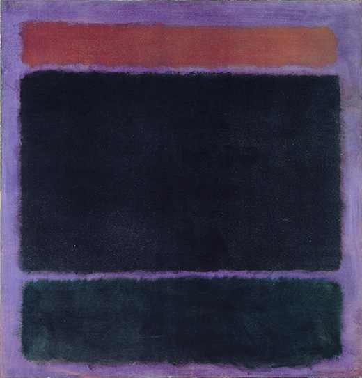 "Mark Rothko Untitled {Rust, Blacks on Plum}, 1962 oil on canvas 60"" x 57"" (152.4 cm x 144.8 cm) No. 07446 Format of original photography: Transparency Photographer: Hickey Robertson"