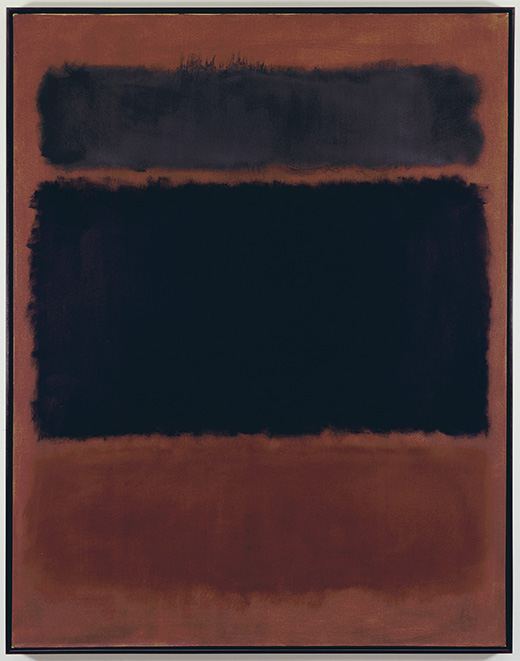 Mark Rothko Black in Deep Red, 1957 No. 63347 Alt # CR 592 Format of original photography: 4x5 Tran